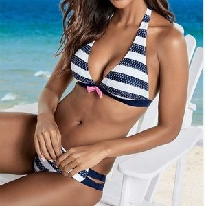 New Scrappy Bikini Sailor Blue
